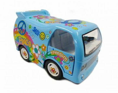 Hippi Bus Dream Car Modellauto blau Kinsfun