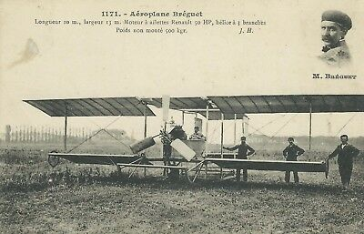 ** TOP CPA , Aviation, Aéroplane Biplan Bréguet  **