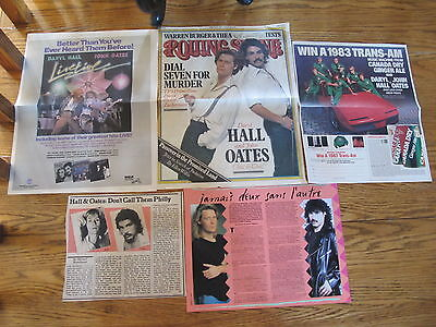 Hall And Oates Vintage Us Clippings,last Chance!