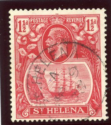 St Helena 1937 KGV 1½d deep carmine-red very fine used. SG 99f.