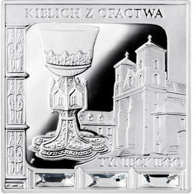 Niue 2014 1$ Chalice from Tyniec Abbey Missing Works of Art Proof Silver Coin
