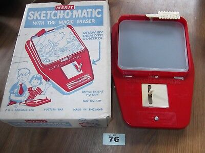 vintage sketch-o-matic '' merit '' childs drawing device