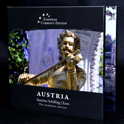 European Currency AUSTRIA Austrian Schilling /  Euro Circulation Coin Sets