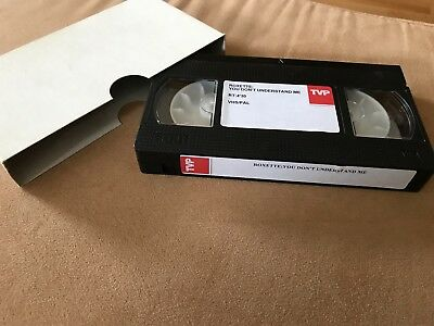 "Roxette ""You Don't Understand Me"" EU 1 Track Promotion VHS Video Cassette"