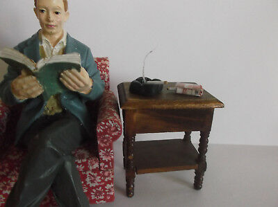 Miniature Doll House Handcrafted Smoking Cigarette In Ash Tray With Pack