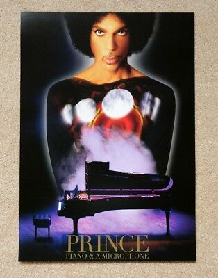Prince Piano and Microphone PURPLE  2016 tour poster !