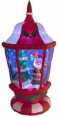 Inflatable Christmas Lantern With Santa Tree & Disco Ball Garden Lights 180cm