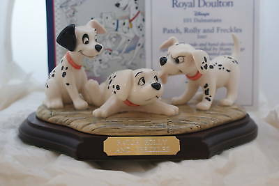 LIMITED EDITION DM 5  PATCH ROLLY AND FRECKLES DISNEY 101 DALMATIONS DOULTON mib