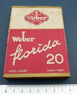 Ancien paquet cigares collection Weber Florida vintage
