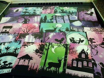 Clear Out 24 X Prints From Hunkydory Little Book Of Twilight Forest Card Making