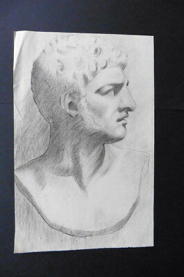 FRENCH SCHOOL 19thC - FINE NEOCLASSICAL PORTRAIT OF A MAN - CHARCOAL