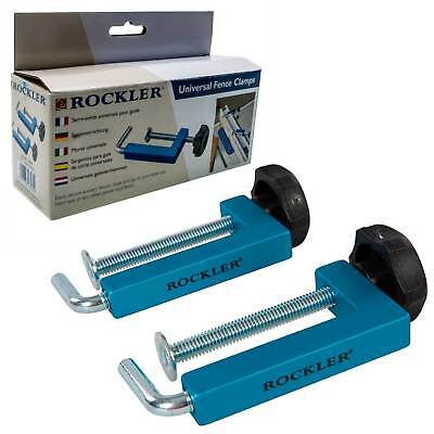 Rockler Universal Fence Clamps Woodworking Carpentry Joinery Workshop Tools 2 Pc