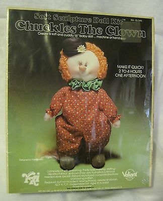 Chuckles The Clown Soft Sculpture Doll Kit Valiant Crafts NEW OLD STOCK