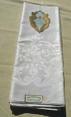 Antique Damask Tablecloth Irish Linen John Wanamaker  70 by 88 Inches Never Used