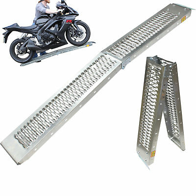 Black Pro Range B5249 Folding Steel Motorcycle Ramp Van Loading Motorbike
