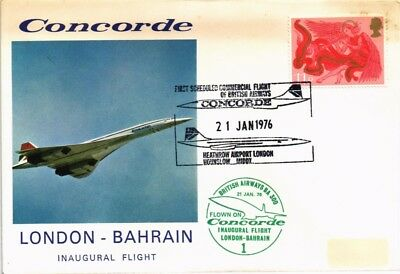 Dr Jim Stamps United Kingdom Airmail First Flight London Bahrain Cover 1976