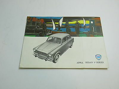 Vintage Original 1950's Lancia Sales Brochure Appia Sedan 3Rd Series In English