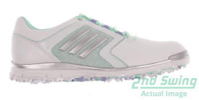 New Womens Golf Shoe Adidas Adistar Tour Medium 7.5 White/Green MSRP $120