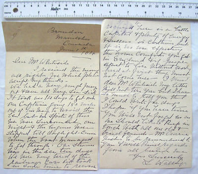 1904 chatty letter Walley, Manitoba, Canada - rough passage, free land, etc.