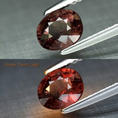 1.20ct 6.8x5.3mm Oval Natural Unheated Color Change Garnet, Africa