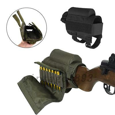Portable Adjustable Tactical Butt Stock Rifle Cheek Rest Pouch Holder Useful