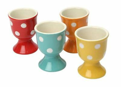 Dexam Polka Spot Dot Ceramic Egg Cups, Set of 4 - 17830301