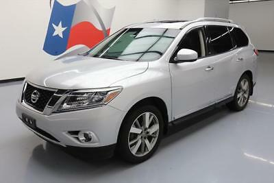 2014 Nissan Pathfinder  2014 NISSAN PATHFINDER PLATINUM 4X4 SUNROOF NAV DVD 54K #622050 Texas Direct