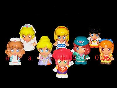 Bandai Cutey Cutie Honey Figure Finger Puppets Gashapon (Full set of 8 figures)