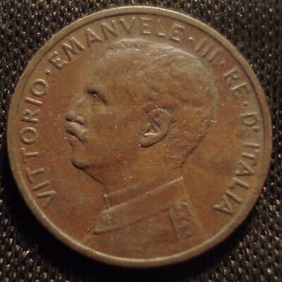 Italy 1913 One Centesimo Clear Detail Hard To Find Coin