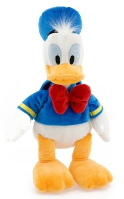 Disney DONALD DUCK Large Premium Stuffed Plush Doll Embroidered Details NEW