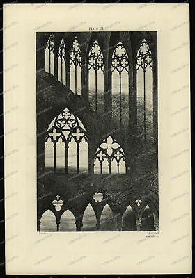 Druck-Stahlstich-Engraving-John Ruskin-Plate-III-Architecture-R.P. Cuff-2