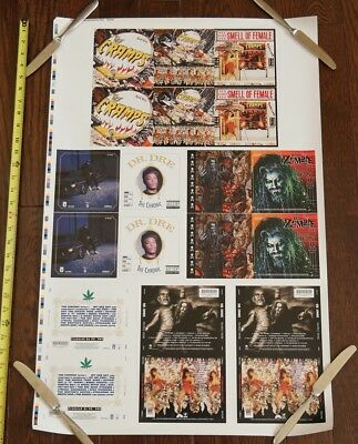 2000 DR DRE. Chronic / Rob Zombie / The Cramps CD PRINTER PROOF SHEET poster