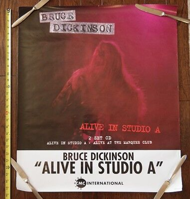 "1990s Bruce DIckinson ""Alive in Studio A"" Iron Maiden promo poster"
