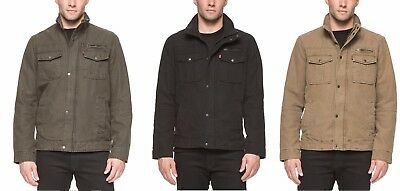 Levi's Men's Fully Lined Full Zip Jacket w/ Ribbed Knit Collar