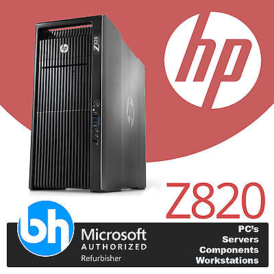 HP Z820 CAD Workstation 2 x E5-2650 Acht Core 64GB RAM 120SSD 2TB Windows 10