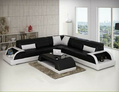 wohnlandschaft polster ecke eck sofa couch garnitur landschaft leder wt 1712 eur. Black Bedroom Furniture Sets. Home Design Ideas
