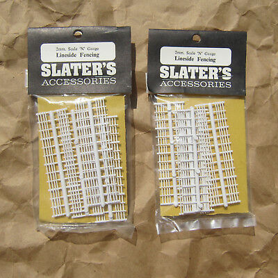 LAST PAIR ~ 2 PACKS FENCE for HOUSES, STATIONS & MORE ~ N Scale Lot ~ Mayhayred