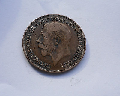 Penny, 1916 - 100 years old Battle of the Somme, in Good Condition.