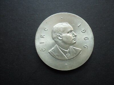 1966 Ireland Silver ten shillings 10/- coin.  Easter Rising Padraig Pearse. Unc