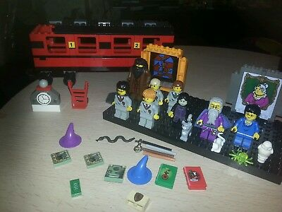 Selection of lego harry potter mini figures and part hogwarts express