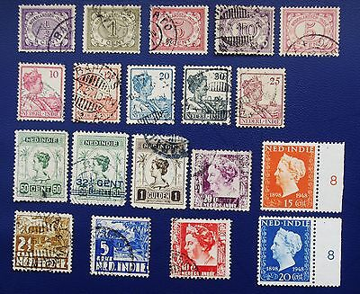 DUTCH INDIES - 1890-1951 Collection of Used & MH Stamps