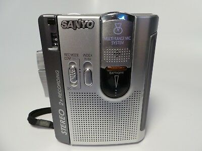 Sanyo TRC-2050C Portable Tape Cassette Player Dictating Recorder Dictaphone