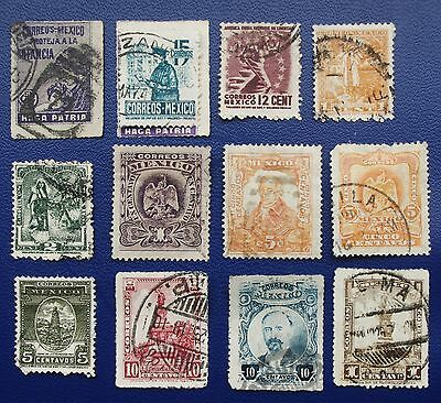 MEXICO- Early Collection of Used Stamps