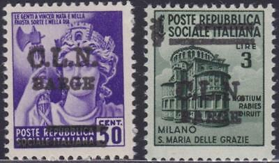 ITALY LOCAL ISSUES BARGE 1945 / 50c and L.3 MH B14192
