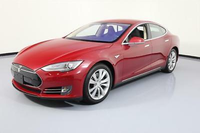 2014 Tesla Model S  2014 TESLA MODEL S 85 TECH HTD LEATHER NAV REAR CAM 24K #P42266 Texas Direct
