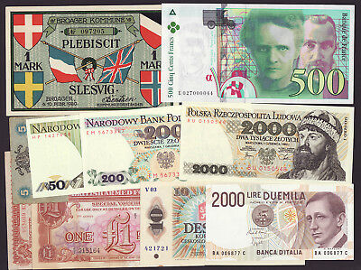 POLAND,ITALY,CZECHOSLOVAKIA,FRANCE  -  lot of 10 pcs.  -  from UNC to VF
