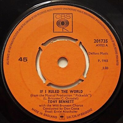 TONY BENNETT - If I Ruled The World / Who Can I Turn To .. 1965 45rpm
