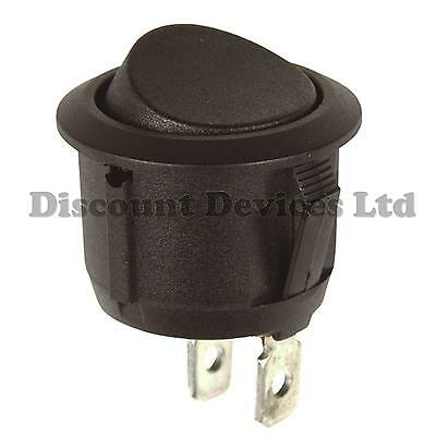 SPST Momentary Rocker Switch Off-(On)  10A 250VAC 1 Circuit, 2 Positions