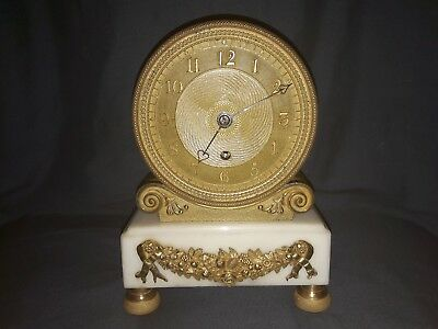 Early 19th Century Drum Clock, Fusee Movement. Gilded. Rigby, Charing Cross.