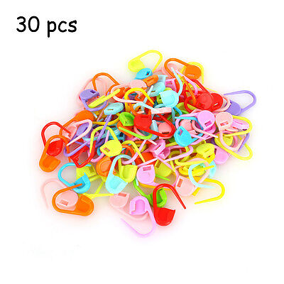 30x Plastic Craft Knitting Crochet Locking Stitch Markers Needle Clip Holder